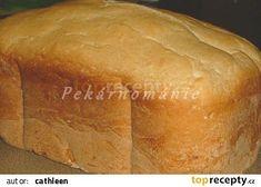 Toustový chleba z pekárny recept - TopRecepty.cz Our Daily Bread, Kefir, Cornbread, Ethnic Recipes, Food, Program, Basket, Millet Bread, Essen
