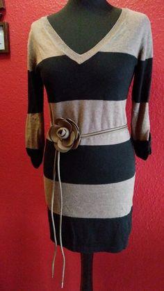 Gina BENOTTI Tunika Oberteil StrickDamenkleid Gestreift Schwarz Grau Gr.S 36/38 in Kleidung & Accessoires, Damenmode, Blusen, Tops & Shirts | eBay!