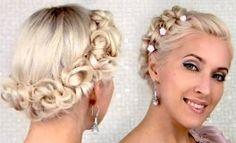 Acconciatura da sposa capelli corti con treccia