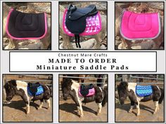 MADE TO ORDER Miniature Horse English Saddle by ChestnutMareCrafts