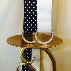 """EXPRESS Polka Dot & Rhinestone Belt Bundle 