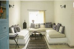 Morocco, tiles around the sofas.  Our Surrena tiles will be perfect.