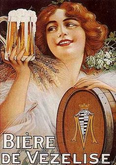 Vintage Alcohol Ads of the Beer Advertisement, Vintage Advertising Posters, Vintage Advertisements, Vintage Ads, Beer Poster, Poster Ads, Sous Bock, Beer Art, Cool Posters