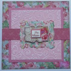 6x6 card using Sara Signature Floral Delight collection. Designed by Jen Fisher #crafterscompanion #scrapbooking #cardmaking