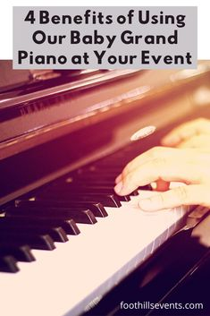 4 Benefits of Using Our Baby Grand Piano at Your Event - The Foothills Event Center Diy Your Wedding, Wedding Tips, Wedding Decor, Wedding Ceremony, Wedding Planning, Wedding Day, Baby Grand Pianos, Happy Moments, Wedding Coordinator