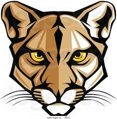 Graphic Vector Mascot Image of a Mountain Lion Head. Free art print of Cougar Panther Mascot Head Vector G. Embroidery Designs, Panther Logo, Logo Clipart, Free Art Prints, Clip Art, Mountain Lion, Free Illustrations, Vector Graphics, Art Images