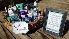 Bathroom Basket Sign Package for Wedding, Shower, Party, Event Decoration - Poem Ladies Gents Bride Groom