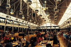 Time Out Mercado da Ribeira in Lisbon, Portugal. Different high-quality restaurant booths where you can buy all kinds of food from sushi to steak tartare to squid salad. Great atmosphere and most definitely worth a visit! Time Out, Squid Salad, Restaurant Booth, Steak Tartare, Old Pictures, Architecture, Parfait, Joseph, Sushi