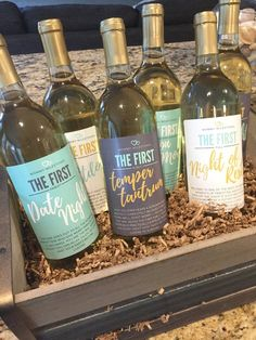6 Mommy's First Milestones Wine Labels and Stickers, Great Baby Shower and Pregnancy Gift Ideas for Mom To Be, Funny Mom's First Moments Baby Shower Hostess Gifts, Funny Baby Shower Gifts, Baby Shower Presents, Unique Baby Shower Gifts, Baby Shower Gifts For Boys, Pregnancy Announcement Gifts, Pregnancy Gifts, Newborn Schedule, Gifts For New Moms