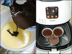 Chocolate Lava Cake in 3 minutes using Airfryer - meer receptjes op de site Phillips Air Fryer, Power Air Fryer Recipes, Gourmet Recipes, Cooking Recipes, Cooking Stuff, Actifry Recipes, Cooks Air Fryer, Air Fried Food, Chocolate Lava Cake
