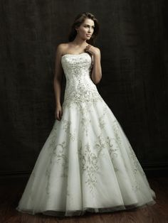 Strapless Tulle over Satin Princess Wedding Dresses