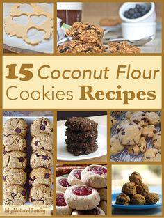 15 Best Coconut Flour Cookies Recipes - MyNaturalFamily.com #coconut #cookies #glutenfree #recipes