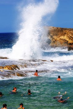 "The Arecibo Pool-Puerto Rico In Arecibo we have several beaches, ""El Muelle"" and ""La posa del obispo"" are the most famous ones."