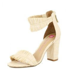 """<p>""""The shoe of the season!"""" were Elaine's exact words in our seasonal product knowledge meeting. This shoe tells the seasonal story of Modern Havana. The raffia frayed trim brings the tropics to your dancing feet- grab a mojito and salsa the night away! Cha cha cha….</p>"""