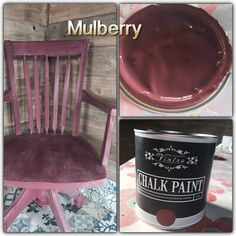 Paloma and Mulberry Chalk Paint, Shabby Chic, Chair, Painting, Home Decor, Decoration Home, Room Decor, Painting Art, Paintings
