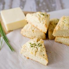 White Cheddar and Chive Scones