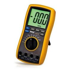 Digital LCD AC, DC, Volt, Current, Resistance, and Range Multimeter W/ Rubber Case, Test Leads And Stand W290-PDMT38
