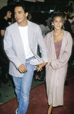 Sarah Jessica Parker & Robert Downey, Jr. at Batman Premiere - 1989
