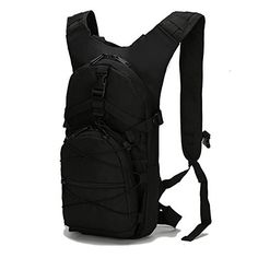 b4a076b44f New Tyter Hunting Climbing Running and Hiking Waterproof Travel bag  Rucksack Daypack Knapsack Black Slim Backpack