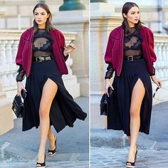 Lingerie as outerwear done right with @oliviaculpo! #perfect #sopretty #lingeriestyle #fashionblogger #fashionista #bella #lingeriestyling #fashionable #lovely #instafashion #instalove #instalike