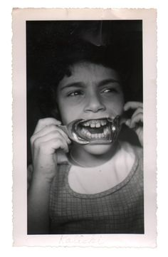 """""""Original 1950s snapshot photo. One of several in an archive of dental """"before and after"""" photos we recently found."""" - flea market photos"""