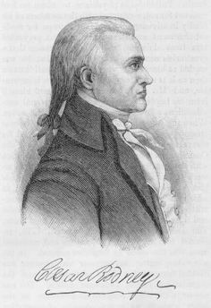 Caesar Rodney (1728-1784) was an officer in the Delaware militia during the French and Indian War and the American Revolution.  He was a delegate to the Continental Congress from Delaware, signer of the Declaration of Independence and President of Delaware during most of he Revolution.