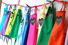 Art Birthday Party Favor - $1 store aprons