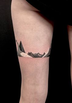 geometric mountain tattoo minimalism