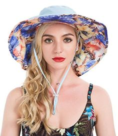 4646975d7bf Lenikis Women s UPF50+ Sun Hat Wide brimmed UV Protection Flap Hat With  Ponytail Hole Review