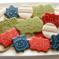 Father's Day Cookies with Kids - The Sweet Adventures of Sugarbelle Sugar Cookie Icing, Royal Icing Cookies, Sugar Cookies, Cut Out Cookies, Fun Cookies, Decorated Cookies, Ranger Cookies, Cow Appreciation Day, Dad Cake