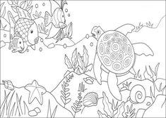 Desenho De Peixes No Fundo Do Mar para colorir