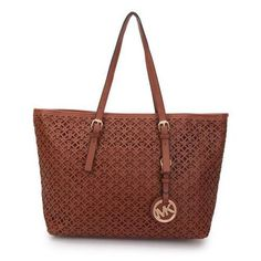Michael Kors Perforated Logo Travel Large Brown Totes Are High Quality And Cheap Price! I Love Fashion, Passion For Fashion, Fashion Design, Women's Fashion, Danielle Haim, College Girl Fashion, Herve, Cool Style, My Style
