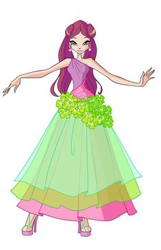 Roxy Flower Princess by Forgotten-By-Gods on DeviantArt Winx Magic, Les Winx, Girls Are Awesome, Bloom, Club Design, Club Style, Princesas Disney, These Girls, Cute Art
