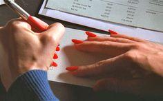 Betty Draper Nails - Stiletto nails