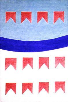 Alfredo Volpi - década de 1960 Nos anos 1960 e 1970 suas composições de bandeirinhas são intercaladas por mastros com grande variação de cores e ritmo. http://sergiozeiger.tumblr.com/post/116486271543/alfredo-volpi-claira-machado-lucca-14-de-abril A técnica da têmpera lhe permite renunciar à impessoalidade do uso de tintas industriais e do trabalho automatizado e mecânico, do qual os artistas concretistas se aproximam. A prática artesanal torna-se para Volpi, uma resistência à automatização…