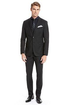 'Ryan/Win' | Extra Slim Fit, Virgin Wool Suit by BOSS