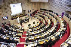 Salle de l'Hémicycle à l'Hôtel de Région de Nantes le 3 décembre 2013