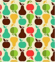 Novelty Cotton Fabric- Retro Kitchen Print : quilting fabric ...