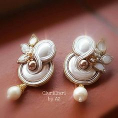 #soutacheaccesories #CiuriCiuribyAz #soutache #handmade #soutachejewelry #unici #earrings #bride #wedding
