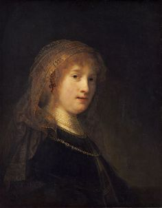 Saskia van Uylenburgh the wife of Rembrandt van Rijn, she was painted many times. My mom often said I resembled her.