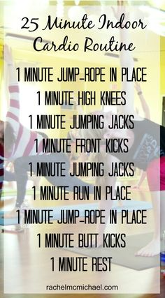 So without further ado - here you go... a quick, 25-minute indoor cardio routine that you can do in the comfort of your living room.