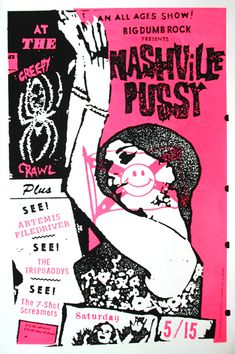 Nashville Pussy by Art Chantry