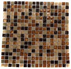 """golden road blend SQUARES 1/2"""" x 1/2"""" glass tile - shop glass tiles at glasstilestore.com"""