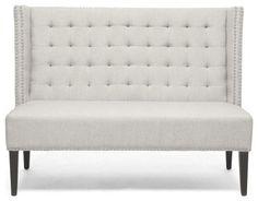 Baxton Studio Owstynn Beige Linen Modern Banquette Bench - transitional - Benches - Baxton Studio