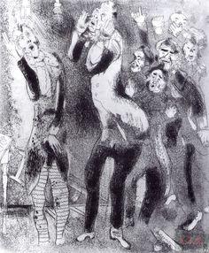 «Мертвые души». Глава 9. В присутственном месте. Художник М. Шагал. 1923–1925