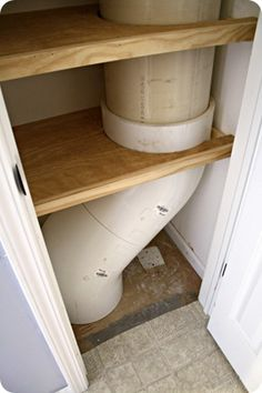 This is for a laundry chute DIY, but it might help us with the framing in our entry closet with the obnoxious vent pipe!