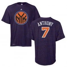 45ec1e0a6713 adidas Knicks Carmelo Anthony ClimaLITE Heathered Game Time T-Shirt Time T