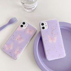 Purple Glitter, Pink Purple, Light Purple, Iphone 11, Iphone Cases, Purple Butterfly, Monarch Butterfly, Jelly Case, Rm 1