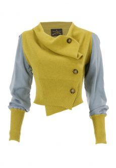 Discover women's designer clothing, shoes, bags and accessories by Vivienne Westwood. Look Fashion, Fashion Outfits, Womens Fashion, Fashion Design, Fashion Clothes, Drape Cardigan, Refashion, Diy Clothes, Knitwear