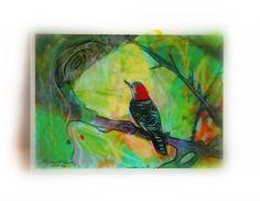 #Aceo original #miniature bird art #Perfect view Aceo Atc Original Miniature by dahliahousestudios $8
